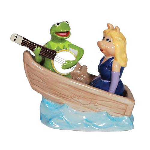 Muppets Kermit and Piggy in Boat Salt and Pepper Shakers