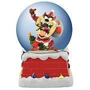Looney Tunes Santa Taz Musical Water Globe