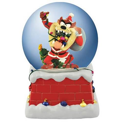 Looney Tunes Santa Taz Musical Water Globe