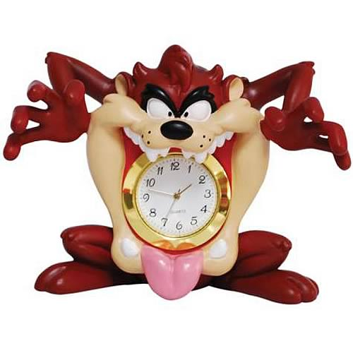 Looney Tunes Taz Mouth Mini Clock