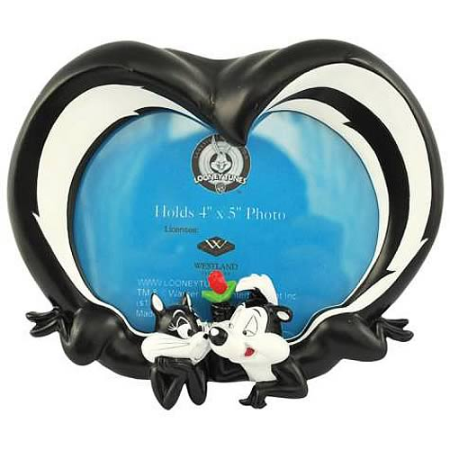 Looney Tunes Pepe Le Pew and Penelope Tails Picture Frame