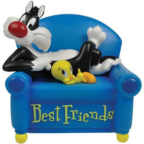 Looney tunes sylvester and tweety best friends mini statue for Best house tunes of all time