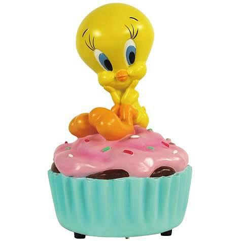 Looney Tunes Tweety Cupcake Musical Statue