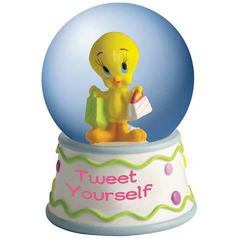 Looney Tunes Tweety Tweet Yourself Water Globe