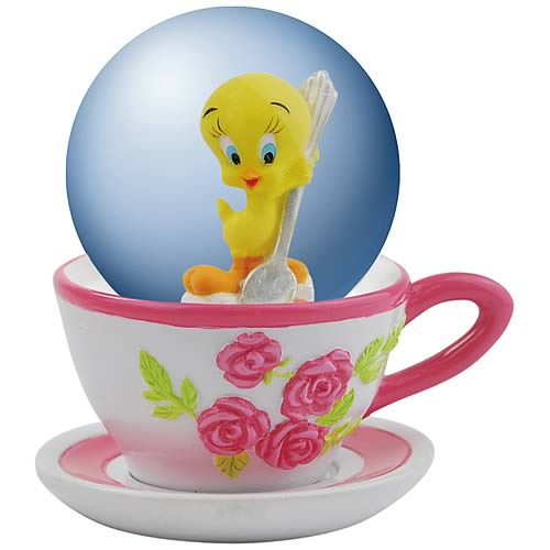 Looney Tunes Tweety Bird Tea Time Water Globe
