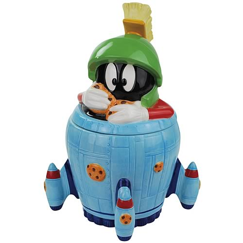 Looney Tunes Marvin the Martian in Spaceship Cookie Jar