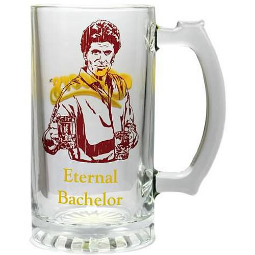 Cheers Sam Malone Eternal Bachelor Glass Stein