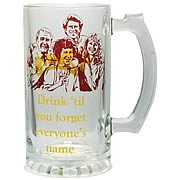 Cheers Drink 'Til You Forget Glass Stein