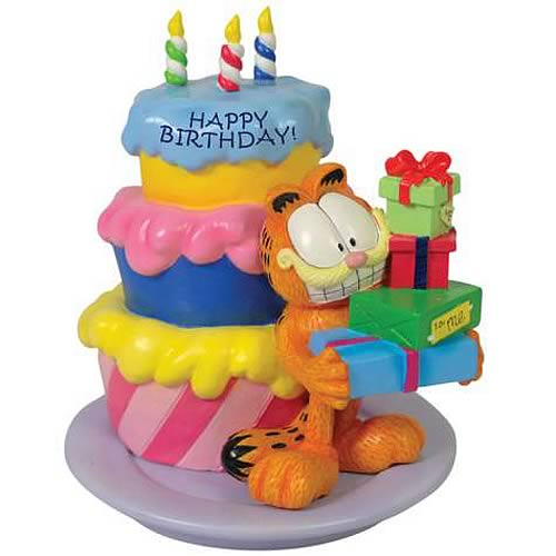 Garfield Happy Birthday Mini Statue