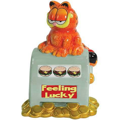 Garfield Feeling Lucky Ceramic Bank