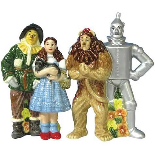 Wizard of Oz Four Friends Salt and Pepper Shaker Set