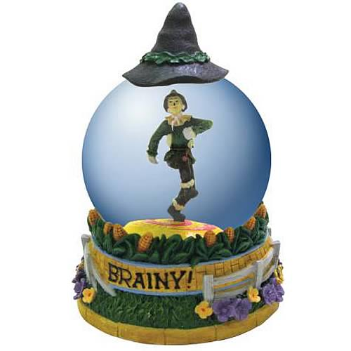 Wizard of Oz Scarecrow Brainy Water Globe