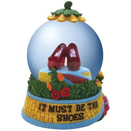 Wizard of Oz Ruby Slippers Must Be The Shoes Water Globe