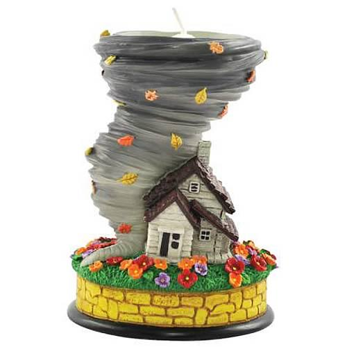 Wizard of Oz Dorothy's House and Tornado Tealight Holder