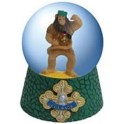 Wizard of Oz Cowardly Lion Courage Badge Water Globe
