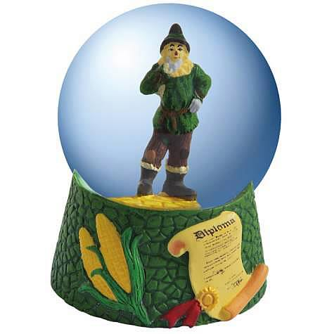 Wizard of Oz Scarecrow Diploma Water Globe
