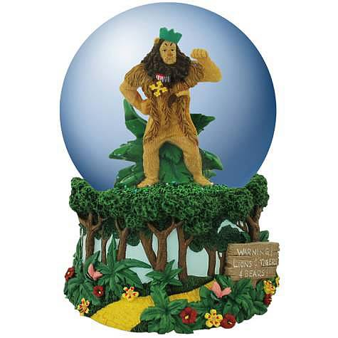 Wizard of Oz Cowardly Lion Musical Water Globe