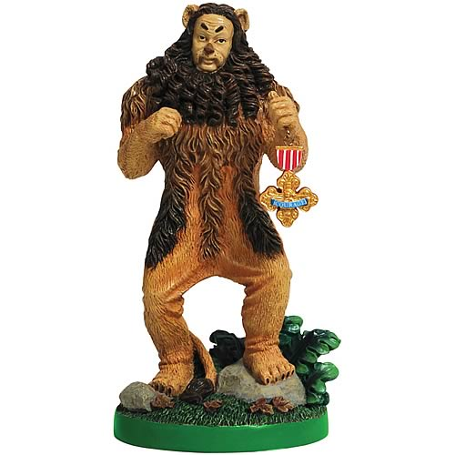 Wizard of Oz Cowardly Lion Medal Statue