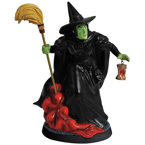 Wizard of Oz Wicked Witch Hourglass Statue