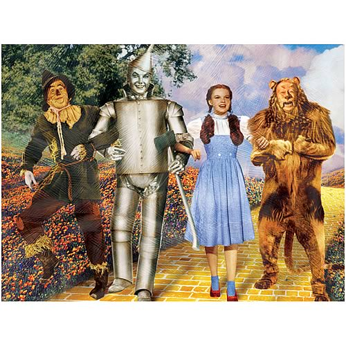 Wizard of Oz Best Friends Canvas Print