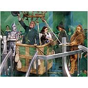Wizard of Oz Ballooning Home Canvas Print