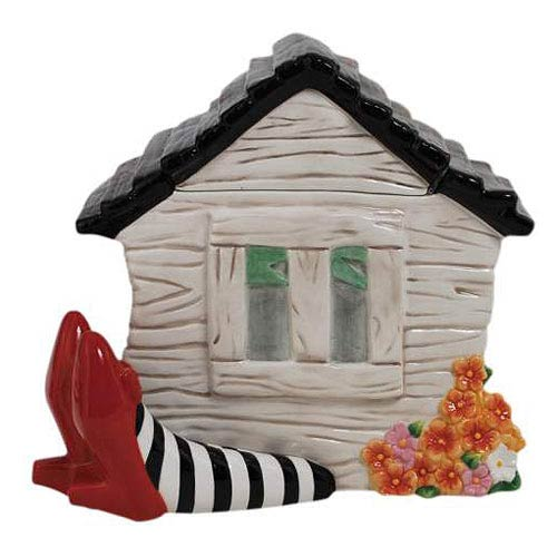 Wizard of Oz House on Legs Cookie Jar