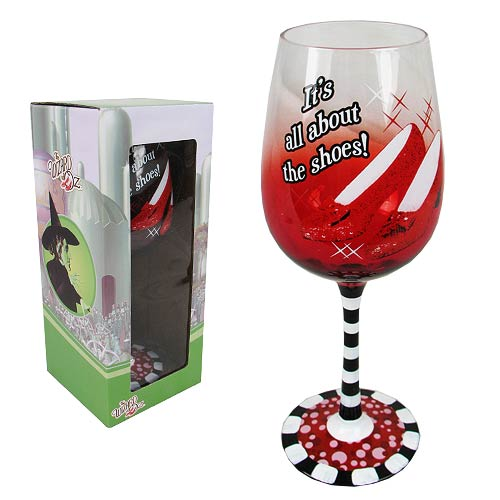 Wizard of Oz Ruby Slippers 15 oz. Wine Glass