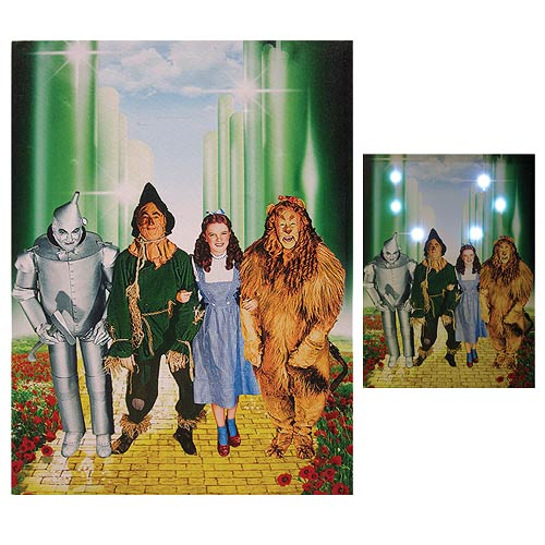 Wizard of Oz Four Friends Light-Up Canvas Print