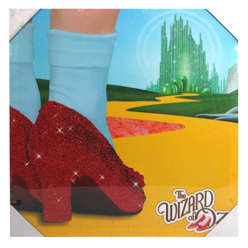 Wizard of Oz Journey to Oz Glitter Large Canvas Print