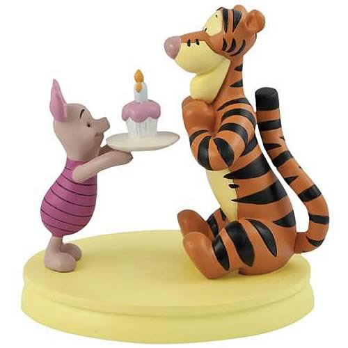 Winnie the Pooh Cupcake Tigger and Piglet Mini Statue