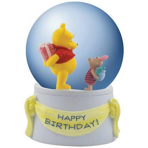 Winnie the Pooh Happy Birthday Musical Water Globe