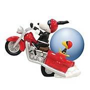 Peanuts Snoopy Joe Cool Motorcycle Water Globe