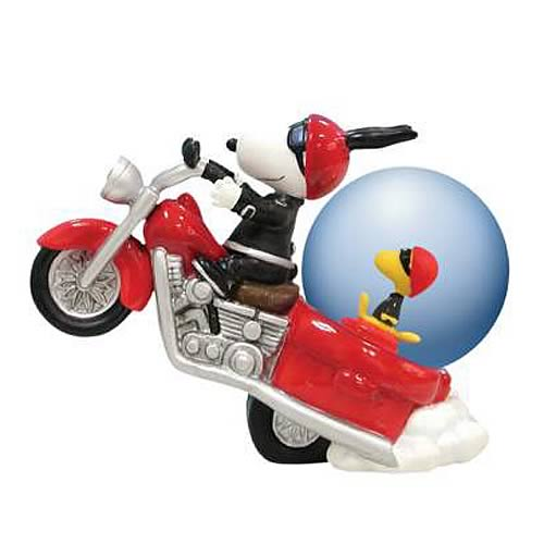 Peanuts Snoopy Joe Cool Motorcycle Water Globe