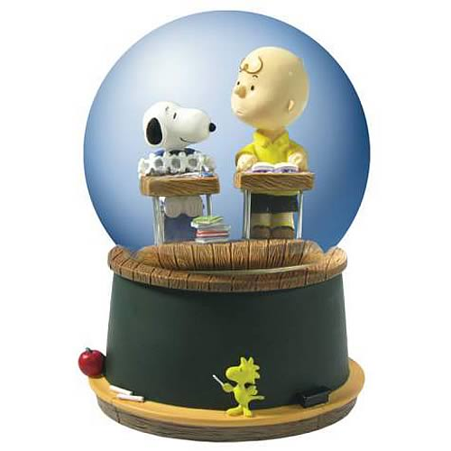 Peanuts Charlie Brown and Snoopy Classroom Water Globe