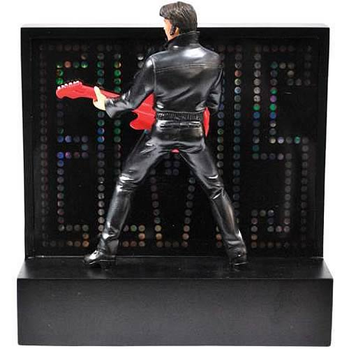 Elvis Presley Red Guitar Lighted Statue