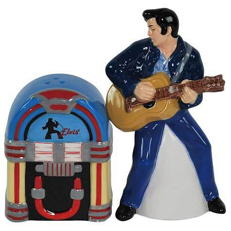 Elvis Presley with Jukebox Salt and Pepper Shaker Set