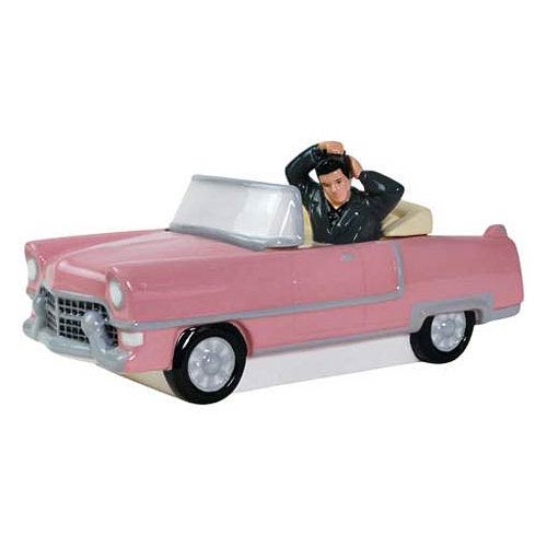 Elvis Presley Pink Convertible Cookie Jar