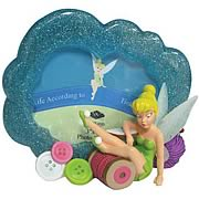 Disney Fairies Tinker Bell Buttons and Thread Picture Frame