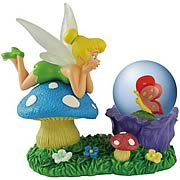 Tinker Bell Admiring Butterfly Water Globe