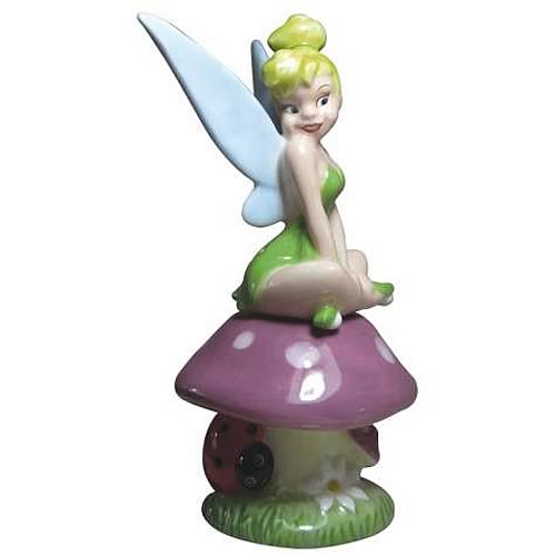 Tinker Bell Tink on Mushroom Salt and Pepper Shaker Set