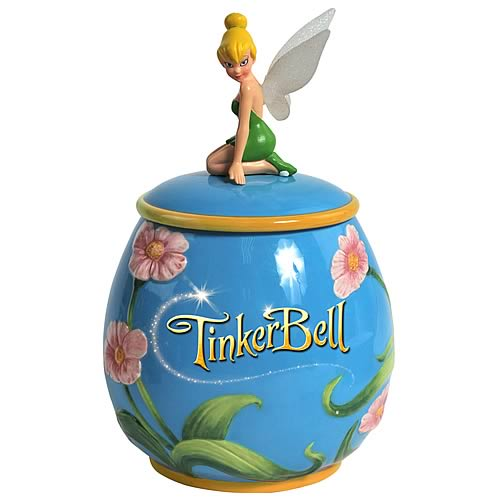 Peter Pan Tinker Bell Flowers Cookie Jar
