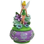 Peter Pan Tinker Bell Pixie Perfect Flowers Trinket Box