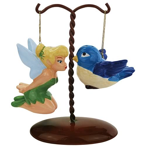 Disney Fairies Tinker Bell & Bird on Tree Salt Pepper Set
