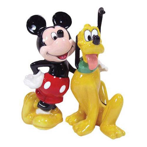 Mickey Mouse Pluto and Mickey BFF Salt and Pepper Shakers