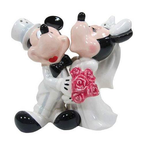 Mickey and Minnie Mouse's Wedding Salt and Pepper Shakers