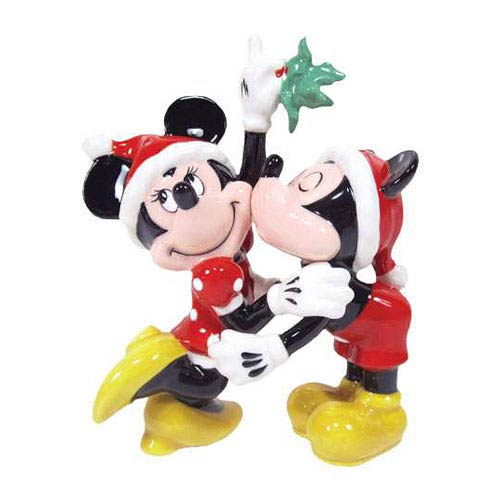Mickey and Minnie Mouse Mistletoe Salt and Pepper Shakers