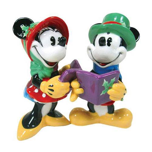Mickey and Minnie Mouse Caroling Salt and Pepper Shakers