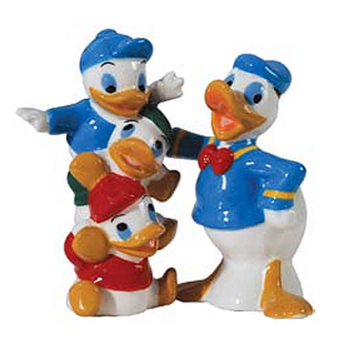 Donald Duck and Family Salt and Pepper Shakers