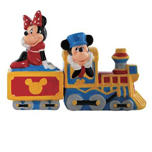 Mickey Mouse and Minnie Choo Choo Salt and Pepper Shakers