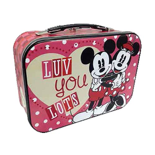 Disney Mickey and Minnie Mouse Luv You Lots Tin Tote